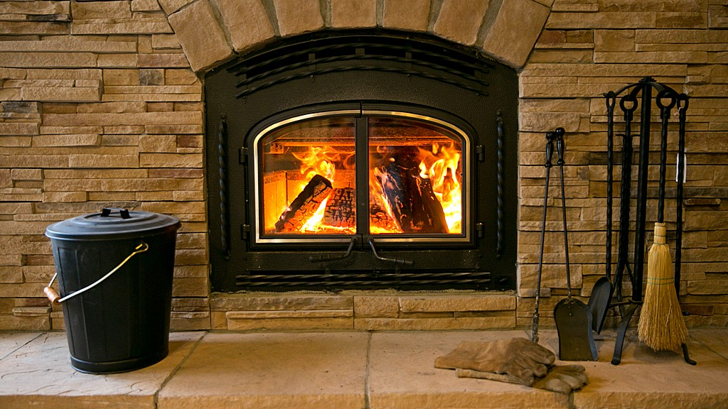 fireplace, wood, burning, fire, flame