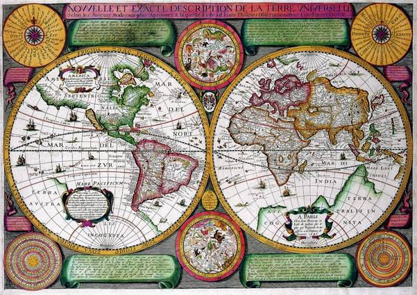 Antique Maps of the WorldMap of the WorldJean Boisseauc 1646