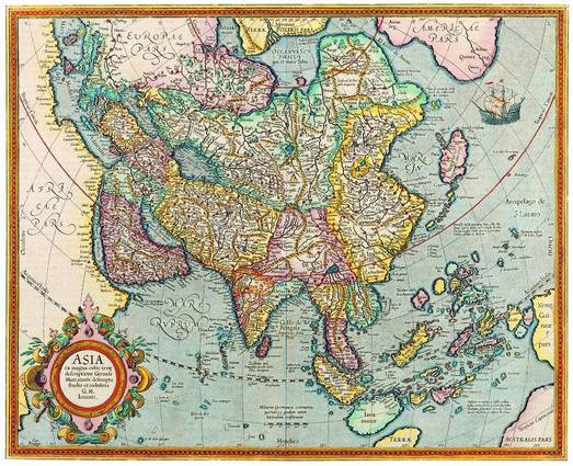 Antique Maps of the WorldMap of AsiaJodocus Hondiusc 1620