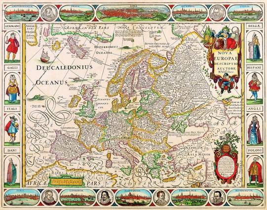 Antique Maps of the WorldMap of EuropeNicolas Visscherc 1658