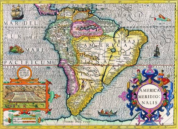Antique Maps of the WorldThe AmericasHenricus Hondiusc 1630