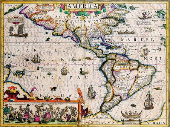Antique Maps of the WorldThe AmericasJodocus Hondiusc 1619