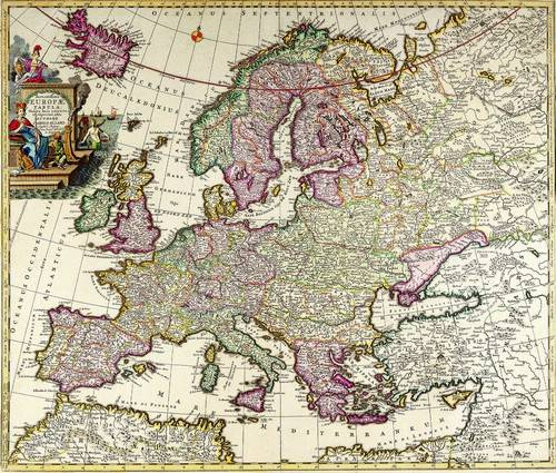 Antique Maps of the WorldMap of EuropeCarl Allardc 1700
