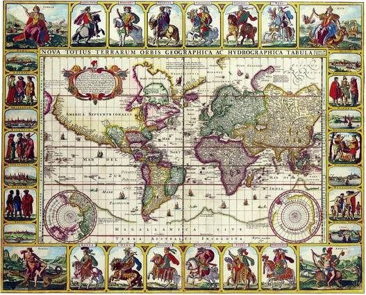 Antique Maps of the WorldMap of the WorldNicolas Visscherc 1652