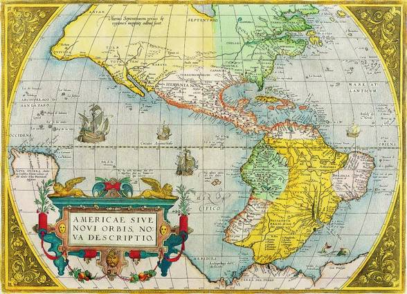 Antique Maps of the WorldThe AmericasAbraham Orteliusc 1579