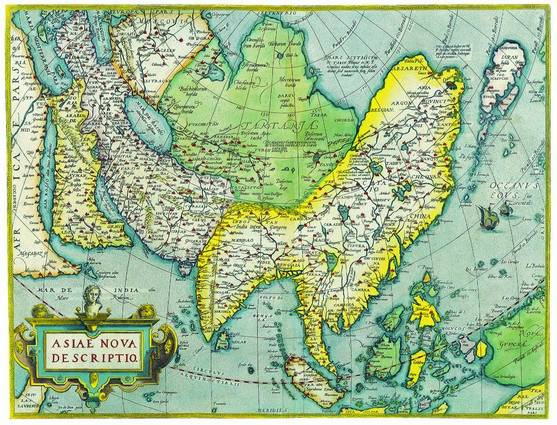 Antique Maps of the WorldMap of AsiaAbraham Orteliusc 1570