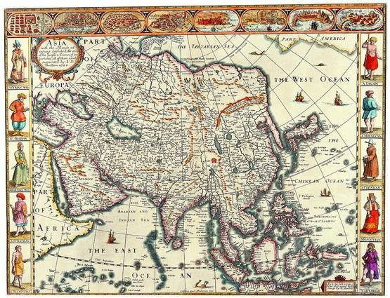 Antique Maps of the WorldMap of AsiaJohn Speedc 1626