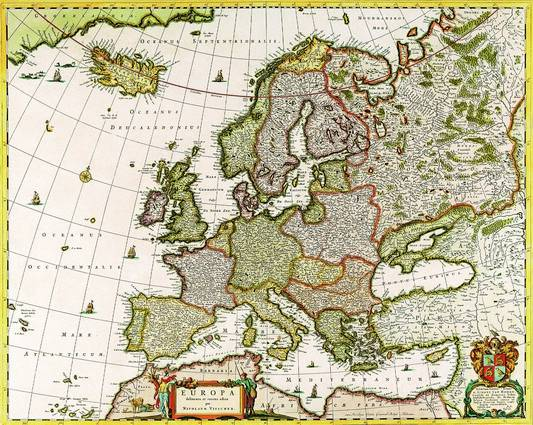Antique Maps of the WorldMap of EuropeNicolas Visscherc 1640