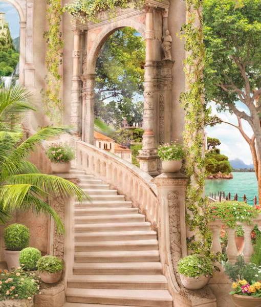 Фотообои Лестница во дворце (ID 12043)