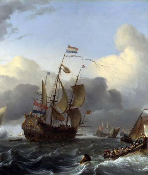 Фотообои Голландские корабли (ID 1639)