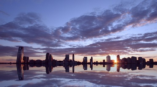 Фотообои Рассвет над городом (ID 2483)