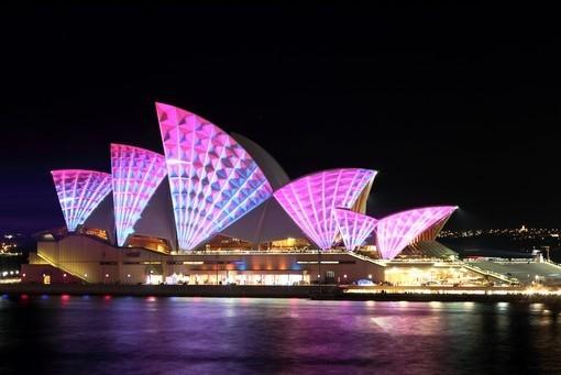 Фотообои Сиднейская опера. Ночь (ID 2541)