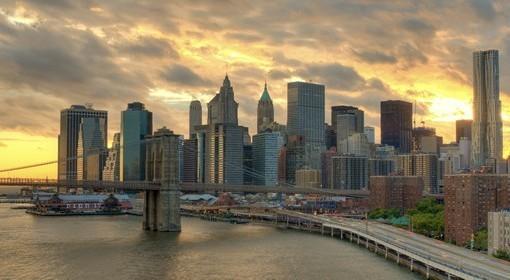 Фотообои Рассвет над Нью-Йорком (ID 2551)
