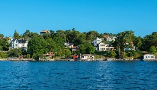Фотообои Вид на прибрежный городок (ID 3504)