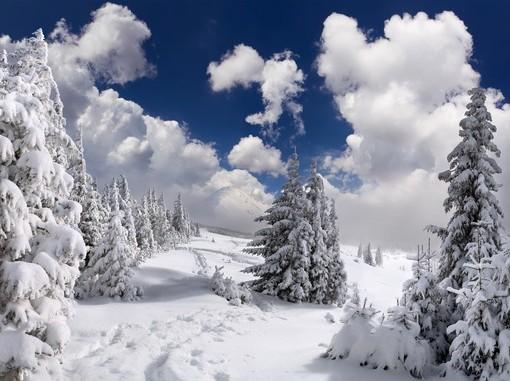 Фотообои Снежные горные склоны (ID 3865)