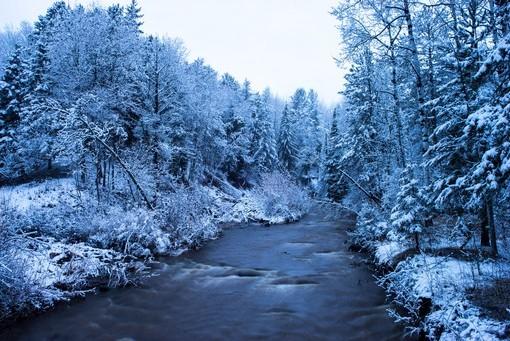 Фотообои Зимняя река (ID 4269)