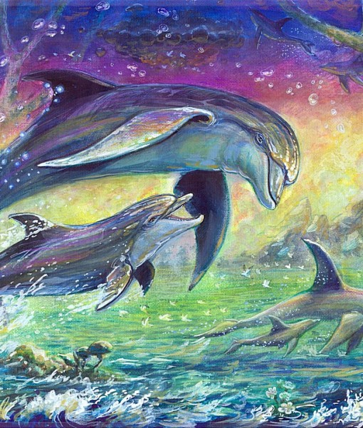Фотообои Дельфины (ID 5301)