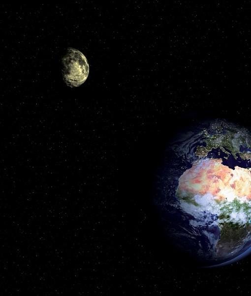 Фотообои Земля и Луна из космоса (ID 5504)