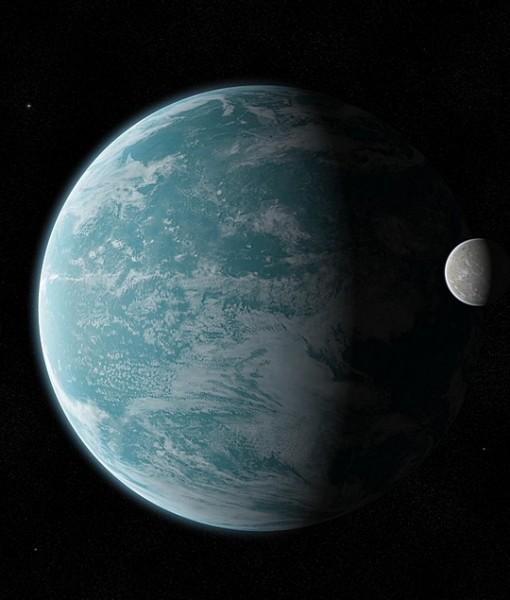 Фотообои Планета и ее спутник (ID 5684)