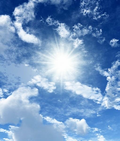 Фотообои Лучи солнца в облаках (ID 5779)