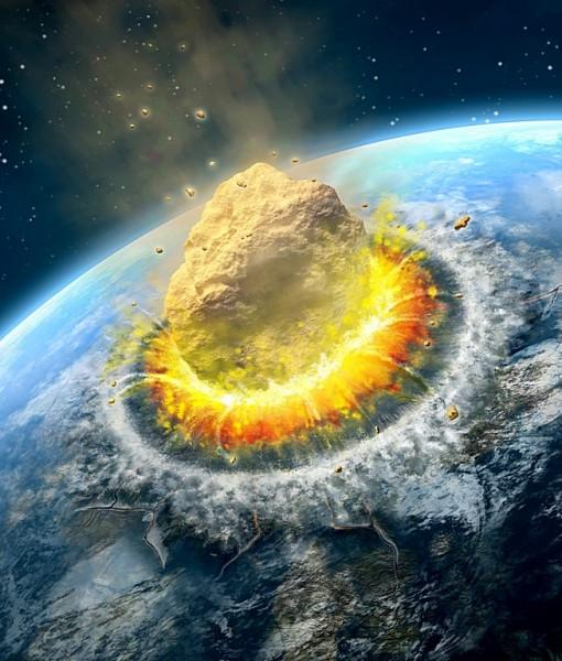 Фотообои Падение астероида (ID 6162)