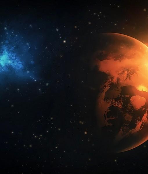 Фотообои Земля в лучах Солнца (ID 6226)