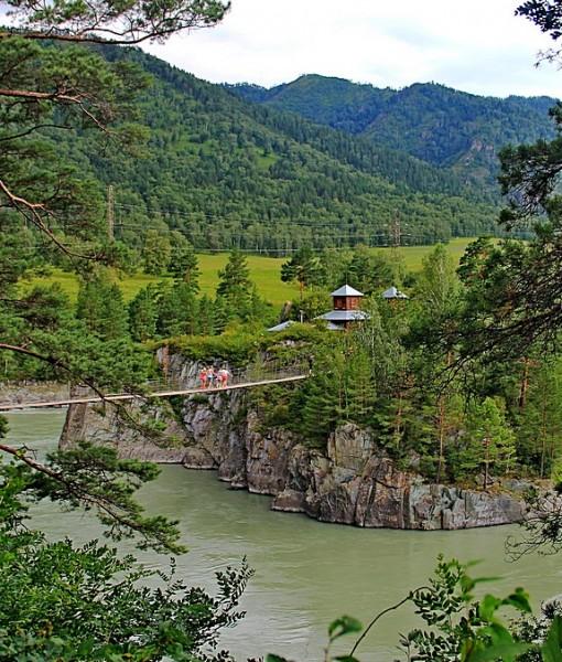 Фотообои Подвесной мост через реку (ID 7714)