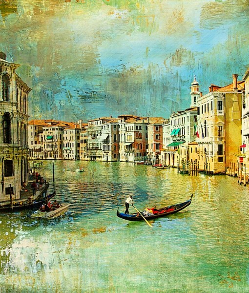 Фотообои Венеция. Гондолы (ID 7755)