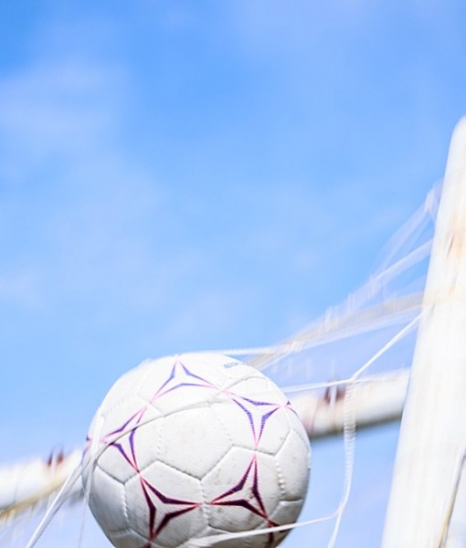 Фотообои Мяч в сетке ворот (ID 13224)