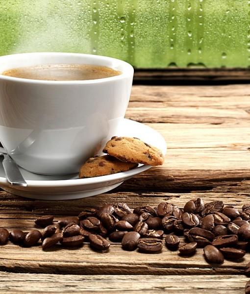 Фотообои Коллаж с чашкой кофе (ID 13870)