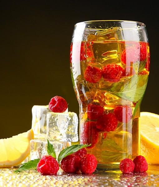 Фотообои Холодный чай с малиной и мятой (ID 14089)