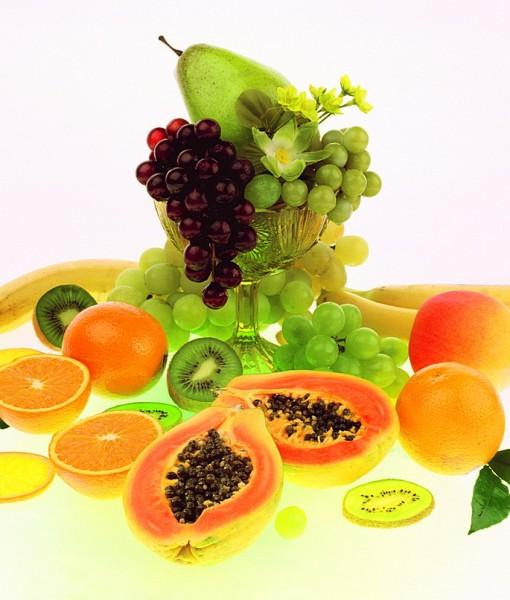 Фотообои Коллаж с манго и виноградом (ID 14150)
