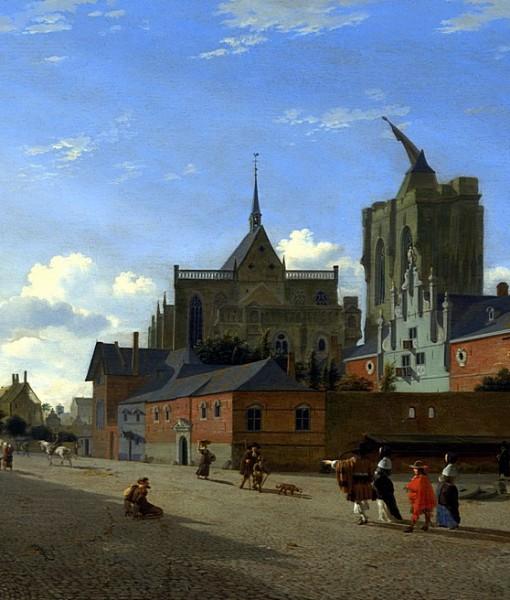 Фотообои Средневековая городская площадь (ID 15408)