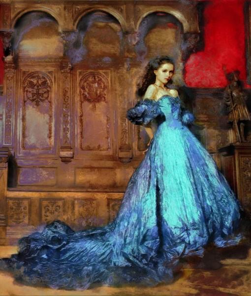 Фотообои Девушка в голубом платье (ID 15419)