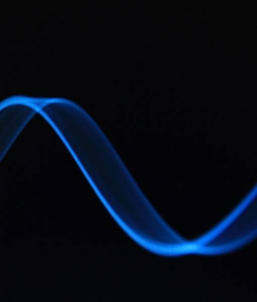 Фотообои Неоновая волнообразная линия (ID 15825)