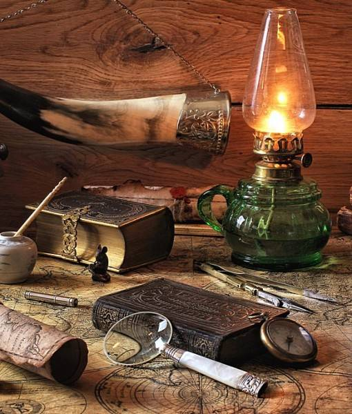 Фотообои Старая лампа (ID 16625)