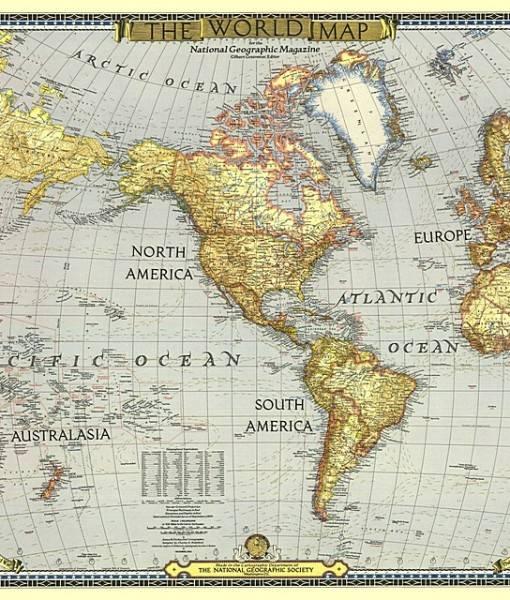 Фотообои Старая карта мира (ID 16689)