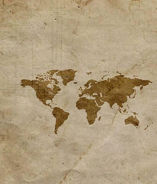 Фотообои Карта на штукатурке (ID 16691)