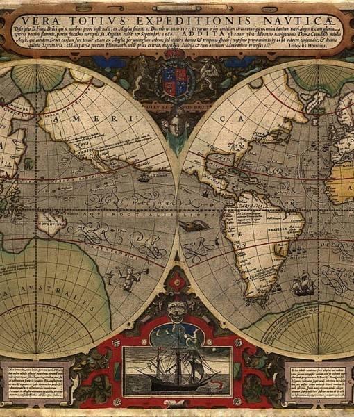 Фотообои Карта полушарий (ID 16700)