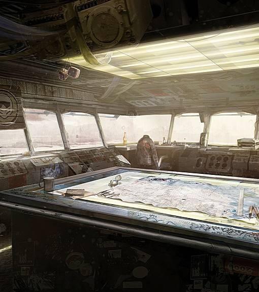 Фотообои В рубке старого корабля (ID 16709)