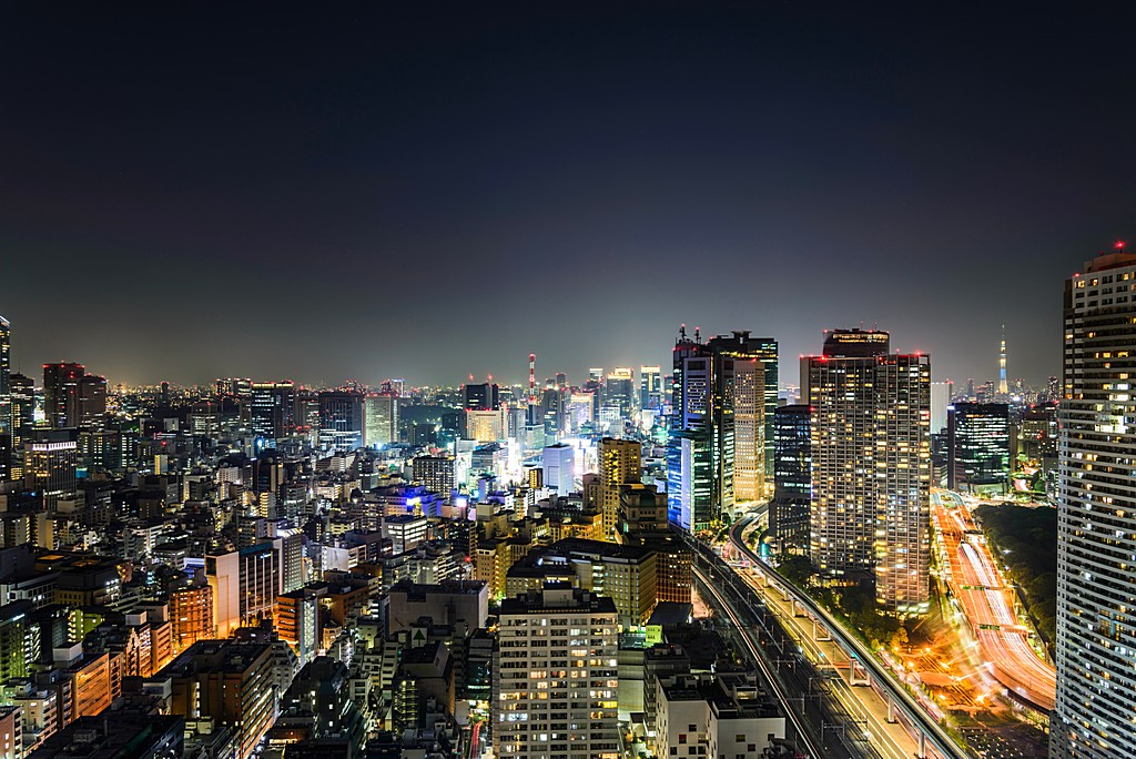 Tokyo Skyline at night time