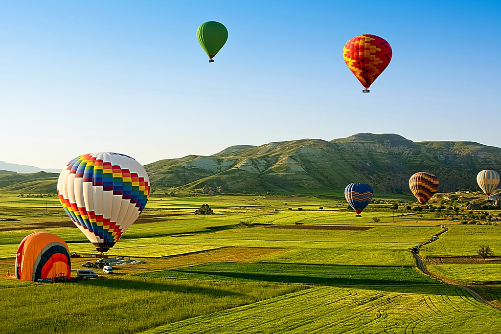 Hot air balloons fly over Cappadocia is known around the world a