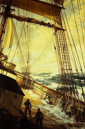 Up Aloft by Montague Dawson